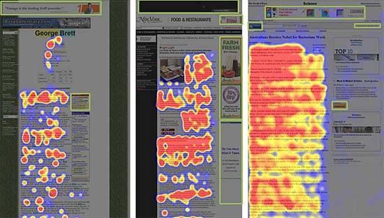 Любой элемент сайта, хотя бы отдаленно напоминающий рекламу, часто игнорируется пользователями